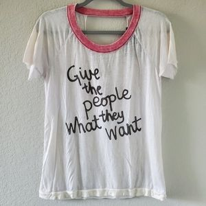 Chaser give the people what they want graphic tee